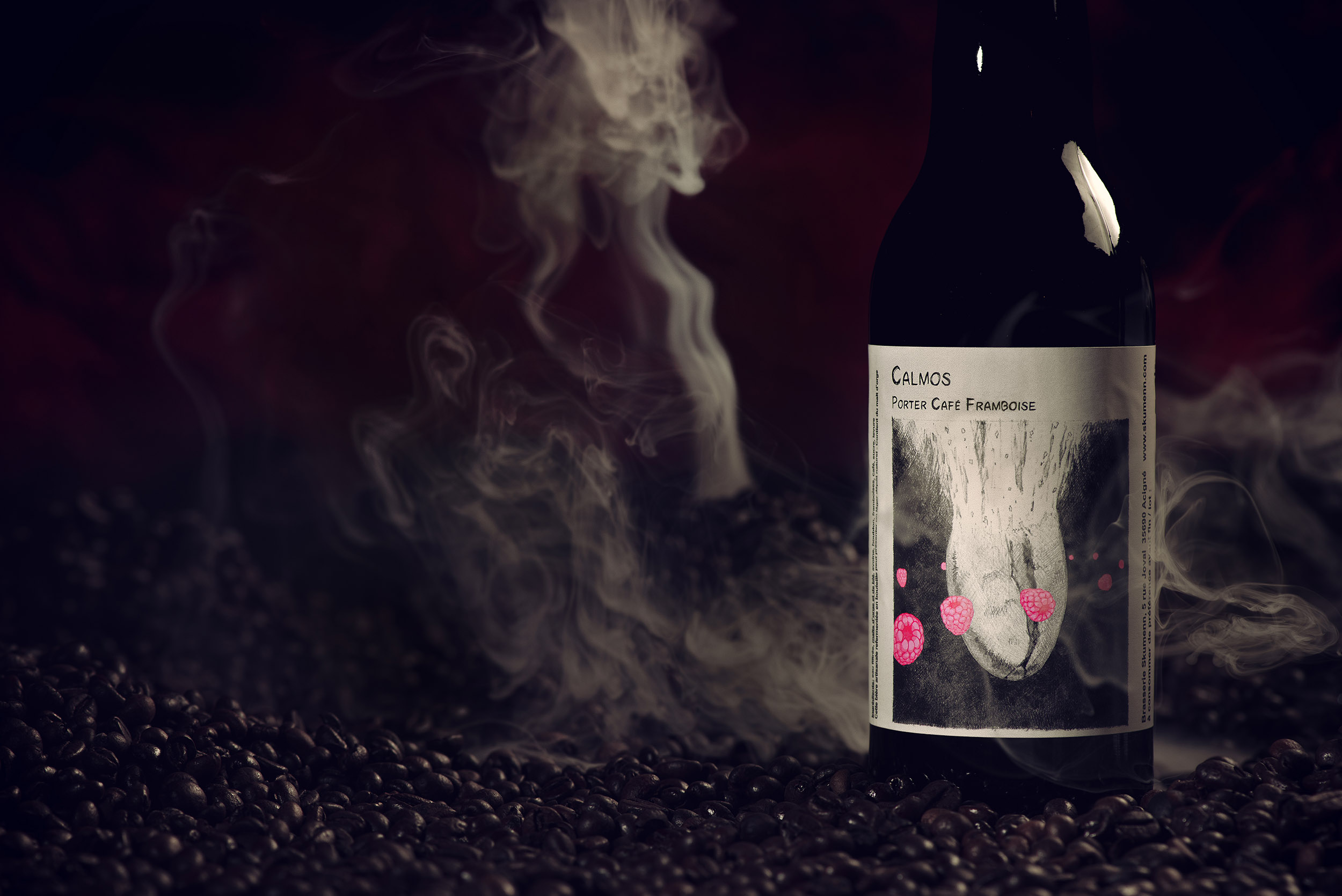 «Calmos» Porter café framboise, une bière de collab'